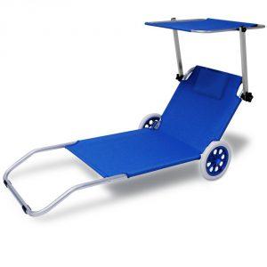 Crivit strandliege  Strandliege mit Rollen - Beach Trolley